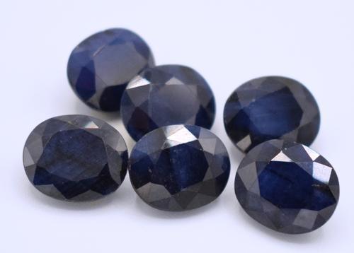 Set of Six Oval Cut Sapphires
