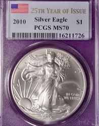 2010 MS70 FS Silver Eagle, PCGS