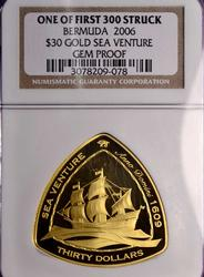 2006 Bermuda $30 Triangle Gold 1oz, NGC