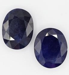 2 ROYAL BLUE SAPPHIRE OVAL CUT