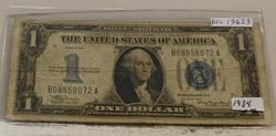 1934  $1 Silver Certificate, Funnyback, circ.