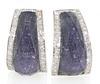 Designer 18K Crystal Haze Earrings with Diamonds