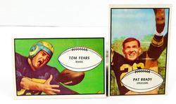 2 Bowman 1953 Football Cards