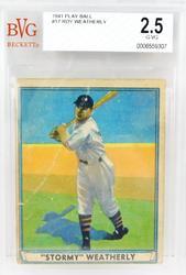 1941 Roy Weatherly Play Ball Graded Baseball Card