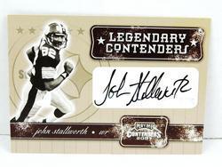 John Stallworth, Steelers Autographed Football Card