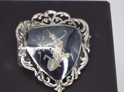 Beautiful Antique Thai design Silver Pendant/ PIN