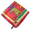 Hermes Pocket Square Multi Color Scarf