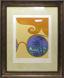 Erte, Winter Resort, Nice Original Serigraph
