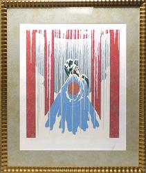 Erte, Love's Captive Original Serigraph