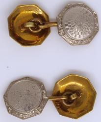 Geometric Design Cufflinks in Gold