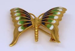 18K Gold Butterfly Pin