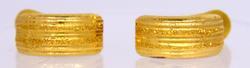 Hoop Shaped 18k Gold Earrings