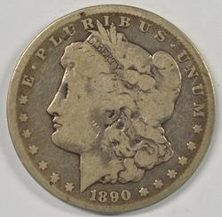 Scarce 1890-CC Morgan Silver Dollar