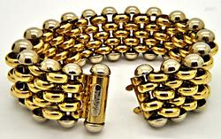 LADIES 18 KT SOLID GOLD FILIPPINI BRACELET. MADE IN ITALY