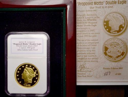 Longacre Liberty 1oz Gold Restrike, NGC