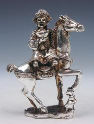 Copper Crafted Rid Horse Sculpture