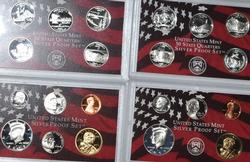 2005 S and 2006 S US Silver Proof Sets