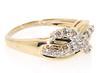 Beautiful Diamond Crossover Ring