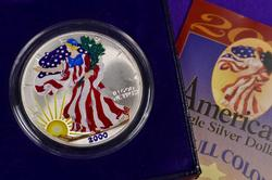 Colorized American Silver Eagle, 2000