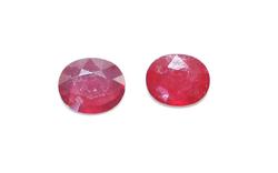 Pair of Oval Rubies +27ctw