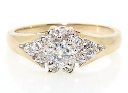 Nice Round Brilliant Cut Halo Cluster Ring