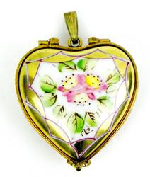 French Limoges Handpainted Box and/or Locket Pendant