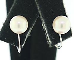 Classy 7mm Pearl Screw Back Earrings