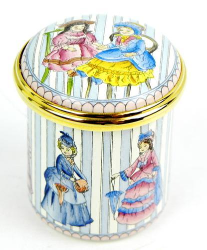 Halcyon Days Vintage Enamel Trinket Box