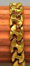 Wide 18K Gold Link Bracelet, 18K