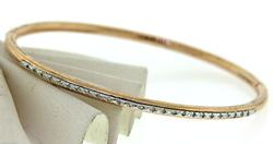 Silver and Rose Gold Plated Diamond Bracele