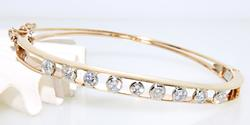Elegant Bezel Set Diamond Bangle Bracelet