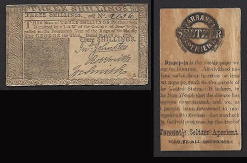 3 Shillings Colonial Advertising Note