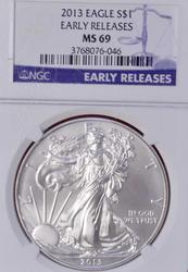2013 ER MS69 American Silver Eagle