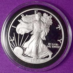 2004 Proof American Silver Eagle in Capsule