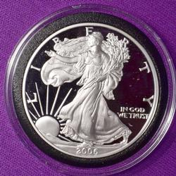 2006 Proof American Silver Eagle in Capsule