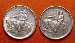 2 x 1925 Stone Mountain Half Dollars