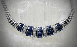 Perfectly Lovely 14K Sapphire & Diamond Necklace