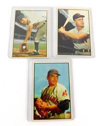 3 Bowman Gum co. 1953 Baseball Cards