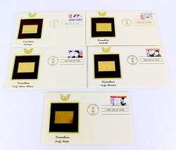 5 - 1991 1st Day Issues & 22KT Gold Stamps