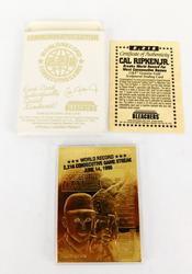 Cal Ripken, Jr. 23KT Gold Foil Baseball Card & COA