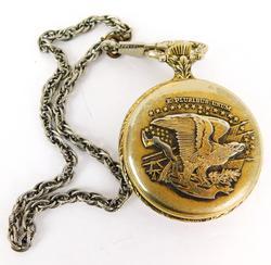 Swiss 17 Jewel Pocket Watch, Runs