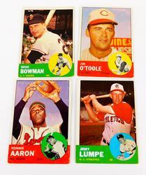 4 Topps 1963 Baseball Cards