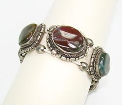 Attractive Ethnic Handmade Large Stones Bracelet