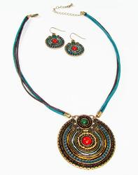 Charming Ethnic Handcrafted Detailed Art Necklace Set