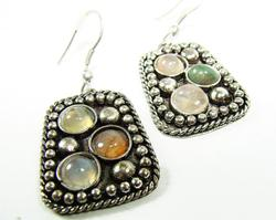 Charming Ethnic Handcrafted Silver Tone Earrings