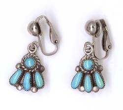 Zuni Turquoise Clip-On Earrings