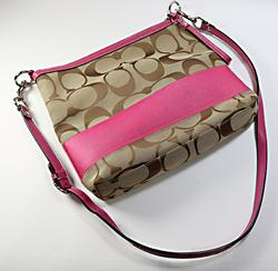 Coach Canvas Monogram Pink Purse
