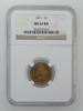 MS62RD 1871 Indian Head Cent - NGC Graded