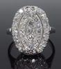 Platinum .75CTW Cluster Diamond Ring