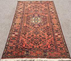 Captivating Handmade Mid 20th C. Vintage Persian Hossein-Abad